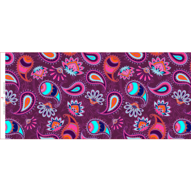 French Terry colorful paisley