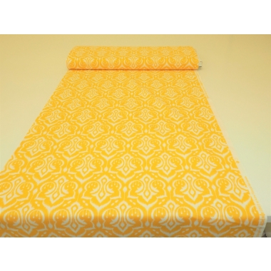 100 % cotton in yellow oriental